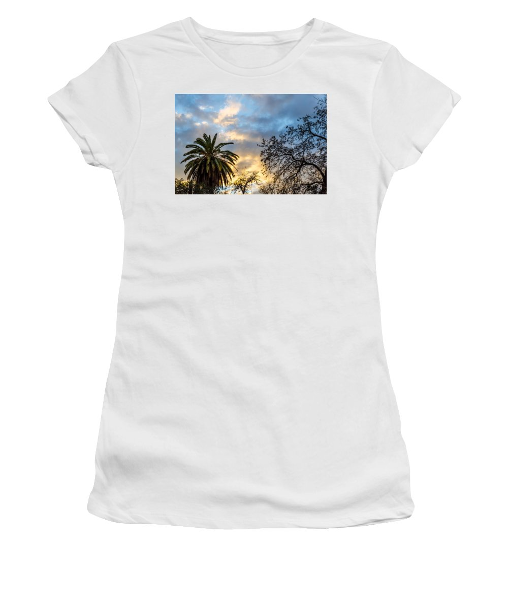Summer Women's T-Shirt (Athletic Fit) featuring the photograph Sunset - A Natural Wonder by Andrea Mazzocchetti