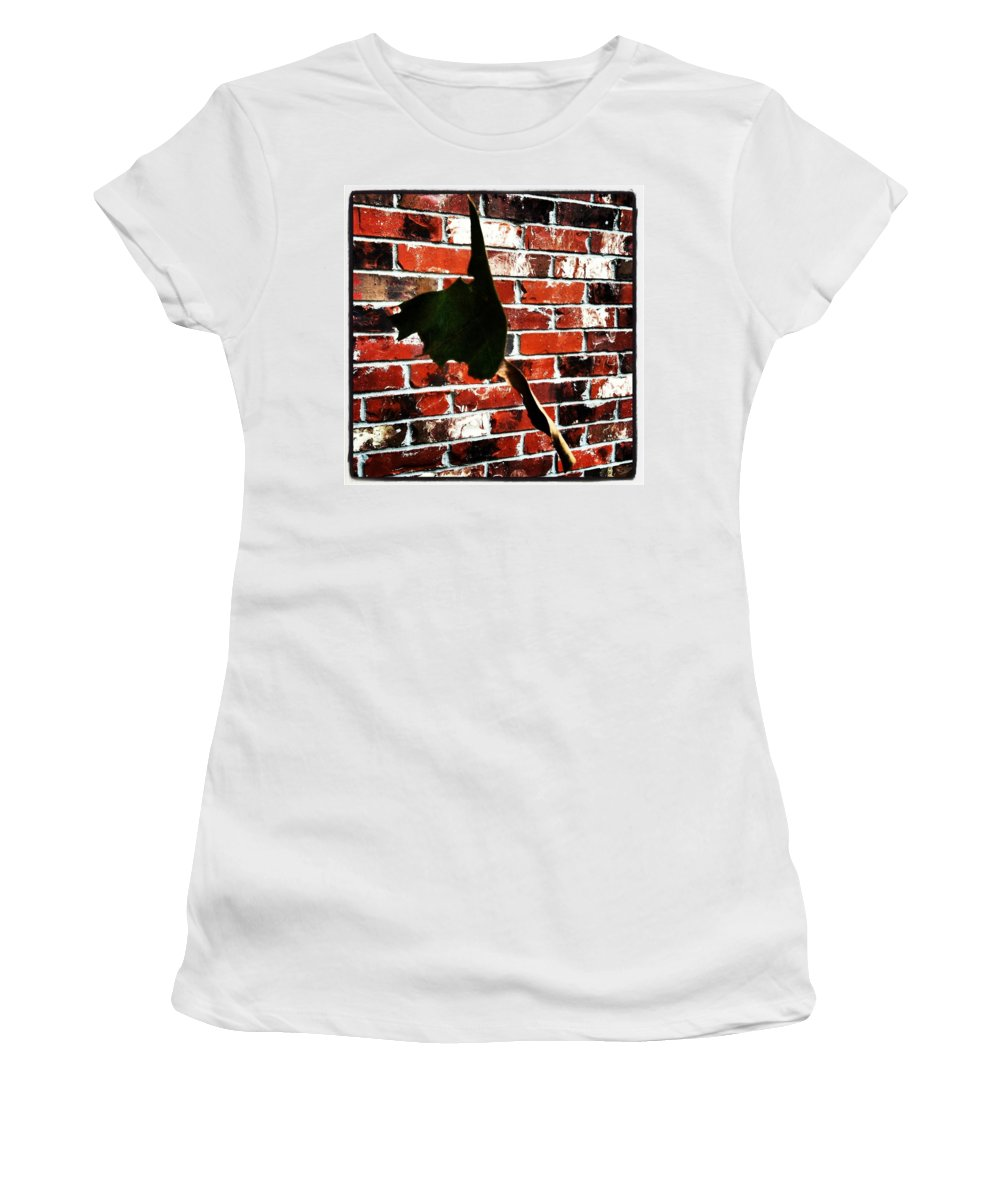 Bricks Women's T-Shirt (Athletic Fit) featuring the photograph Suspended by Artie Rawls