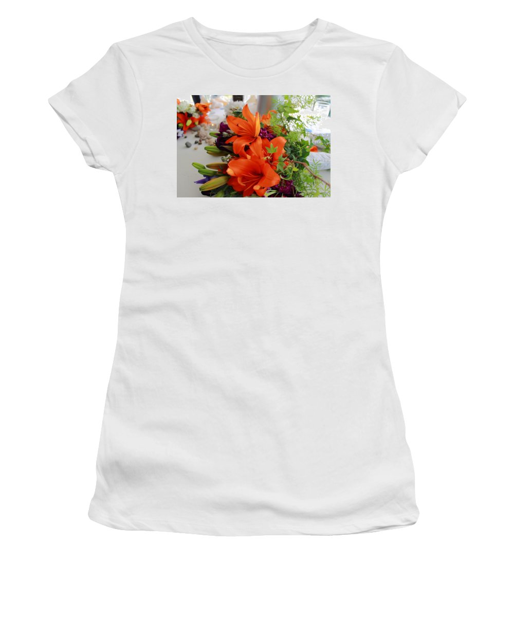 Flower Women's T-Shirt (Athletic Fit) featuring the photograph Sweetheart Table by Jeff Heimlich