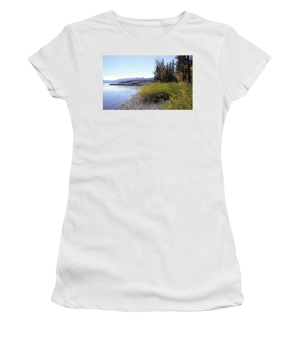 Lake Women's T-Shirt (Athletic Fit) featuring the photograph Tahoe by Mary Rogers