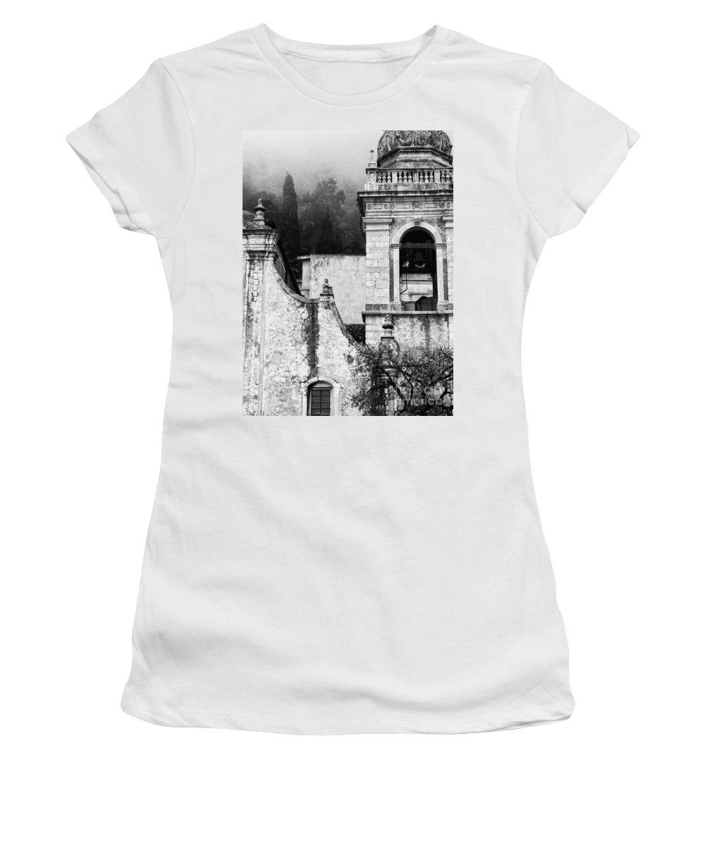 Taormina Women's T-Shirt (Athletic Fit) featuring the photograph Taormina Church Detail by Silvia Ganora