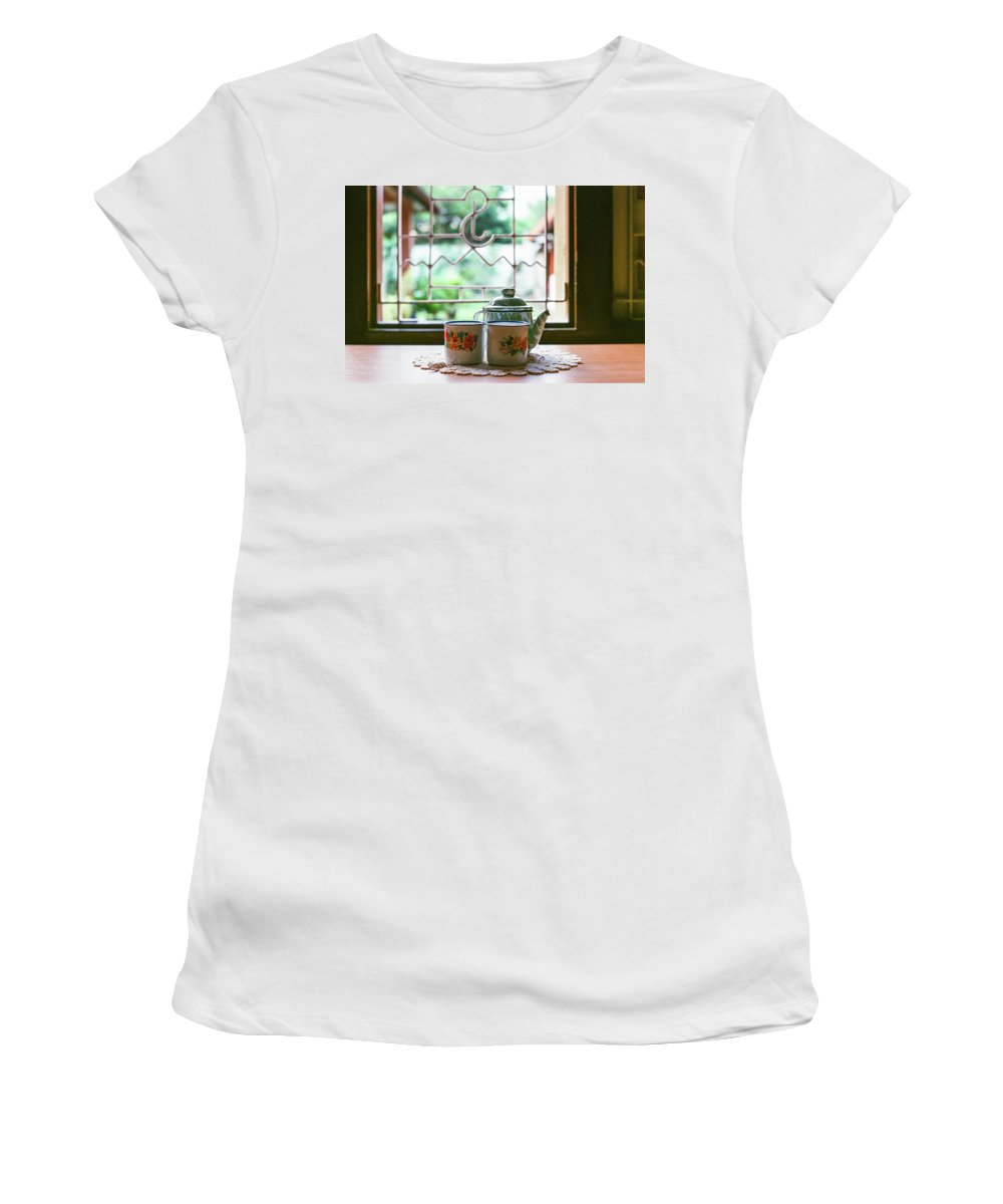 Tea Women's T-Shirt (Athletic Fit) featuring the photograph Tea Time by Briana M