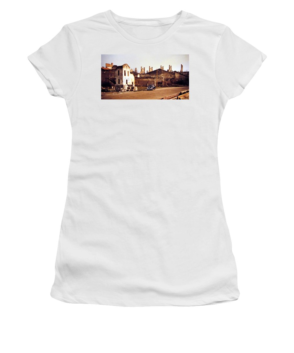 1955 Women's T-Shirt (Athletic Fit) featuring the photograph Ten Years After The Bombs 1955 by Will Borden