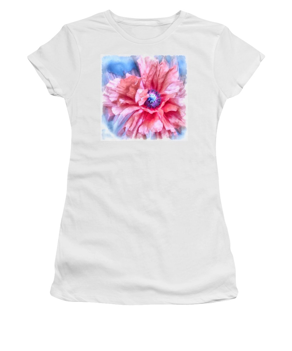 Poppy Women's T-Shirt (Athletic Fit) featuring the photograph Tenderness by Angelina Vick