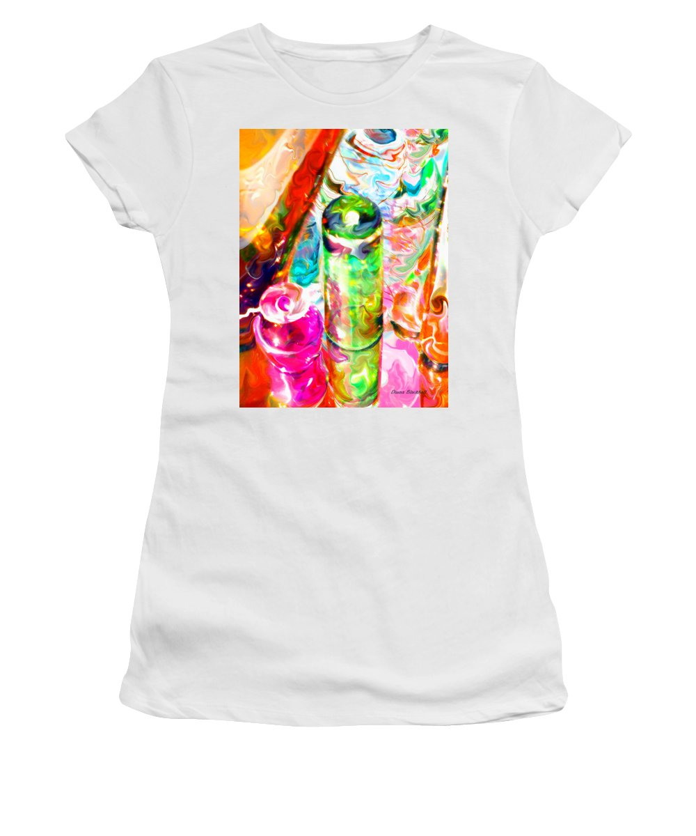 Glass Women's T-Shirt (Athletic Fit) featuring the photograph Tequila Sunrise by Donna Blackhall