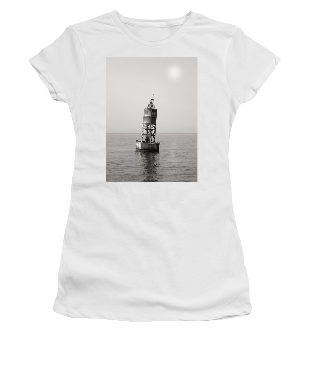 Bell Women's T-Shirt (Athletic Fit) featuring the photograph The Bell Buoy by Charles Harden