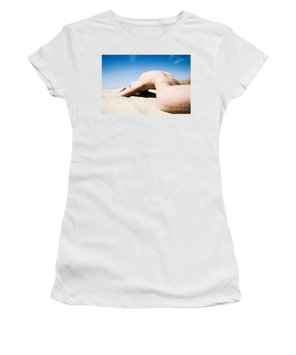 Sensual Women's T-Shirt (Athletic Fit) featuring the photograph The Bridge by Olivier De Rycke
