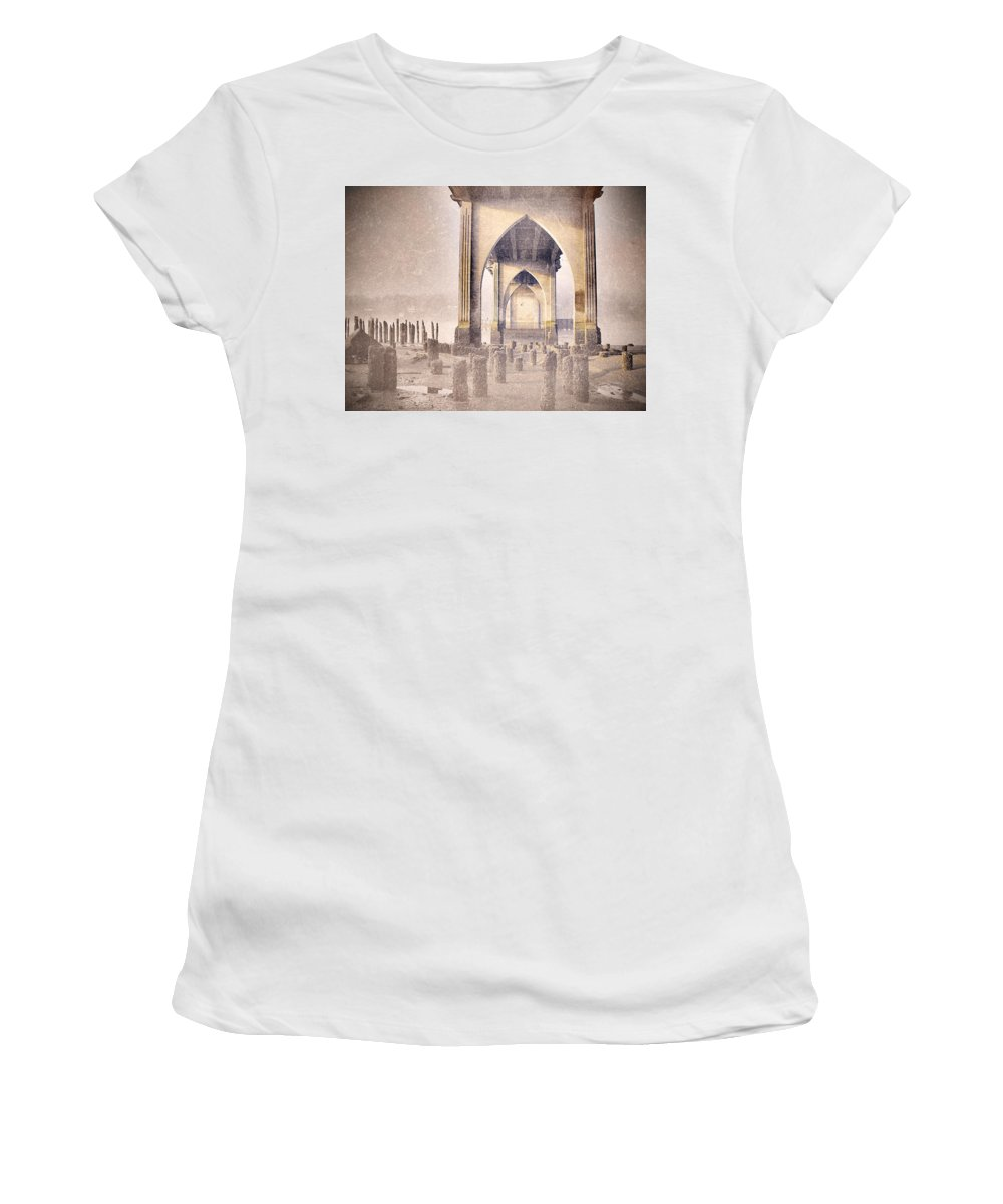 Bridge Women's T-Shirt (Athletic Fit) featuring the photograph The Bridge On The Day I Left 2 by Tara Turner