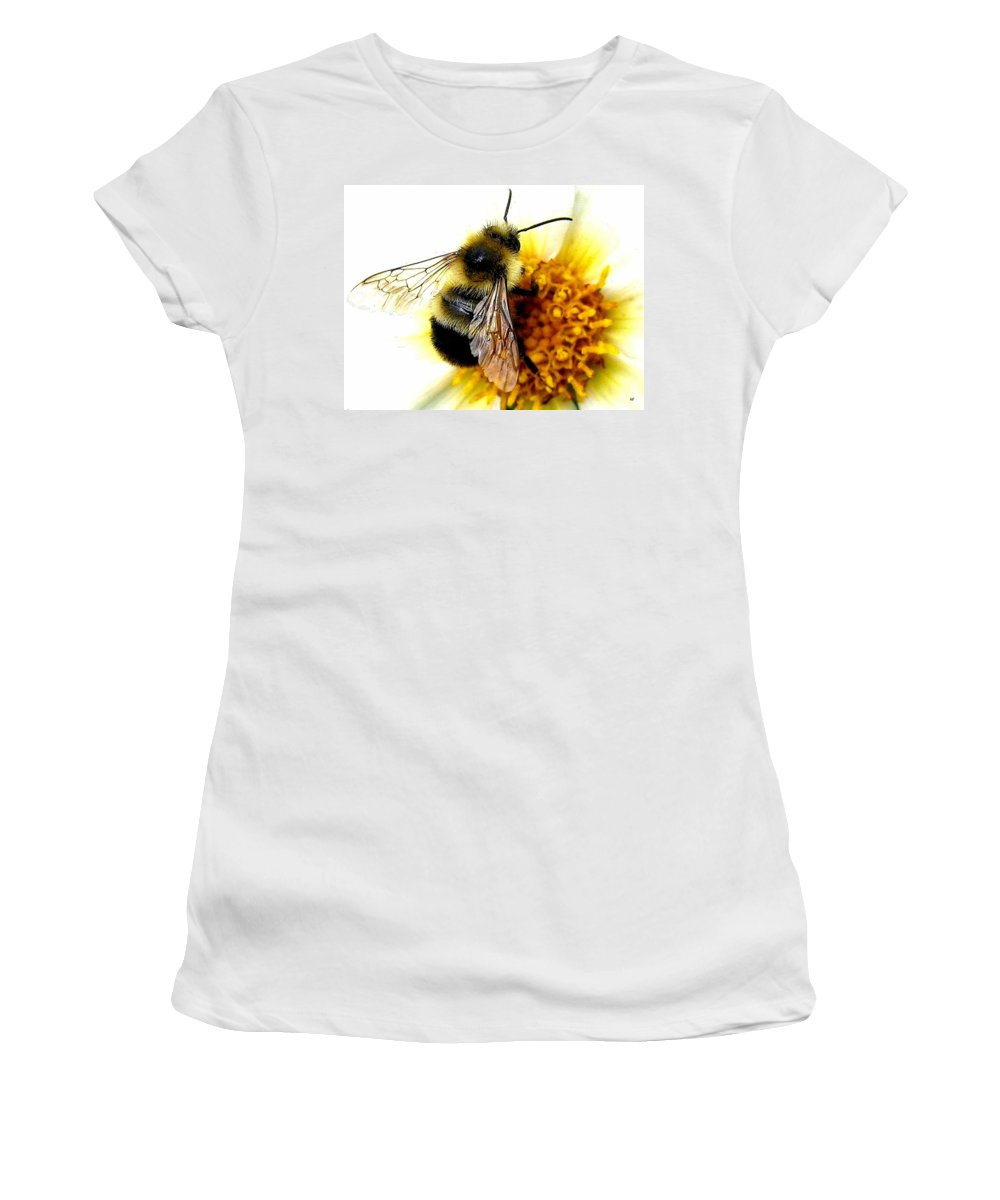 Honeybee Women's T-Shirt (Athletic Fit) featuring the photograph The Buzz by Will Borden