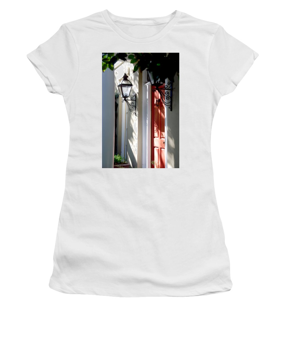 Photography Women's T-Shirt (Athletic Fit) featuring the photograph The Charme Of Charleston Sc by Susanne Van Hulst