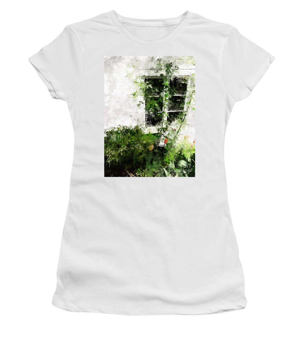 Window Women's T-Shirt featuring the photograph The Climb by Claire Bull