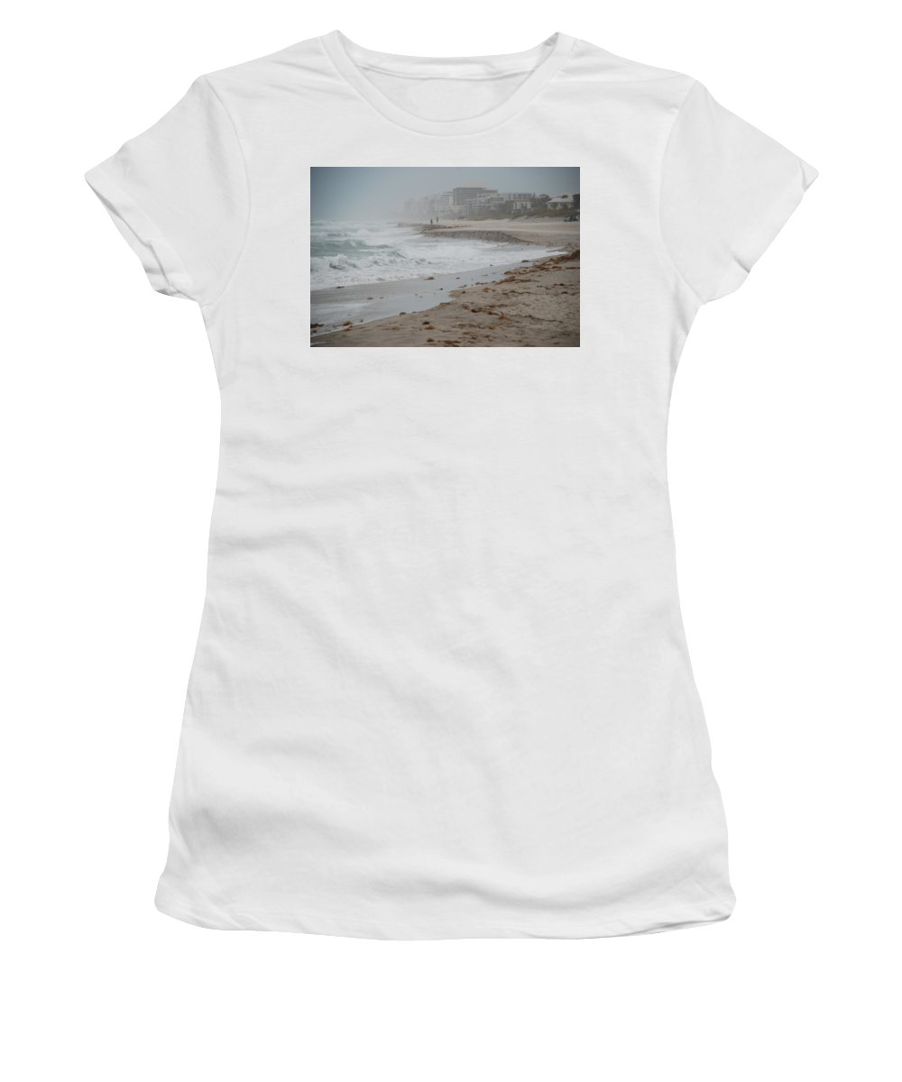Water Women's T-Shirt (Athletic Fit) featuring the photograph The Coast by Rob Hans