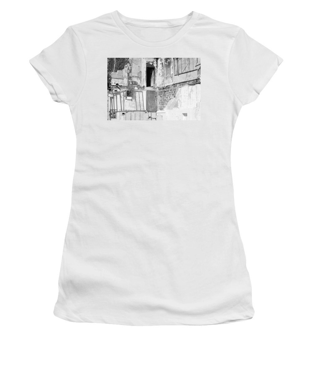 Architecture Women's T-Shirt (Athletic Fit) featuring the photograph The Doorway To Darkness by Rob Hans