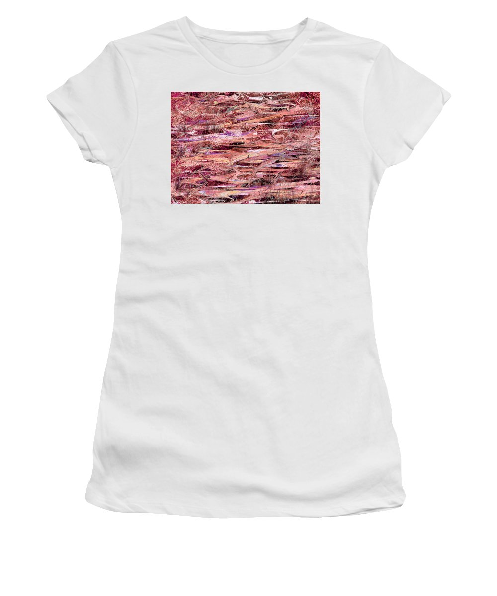 Abstract Women's T-Shirt (Athletic Fit) featuring the digital art The Enchanted Marsh by Rachel Christine Nowicki