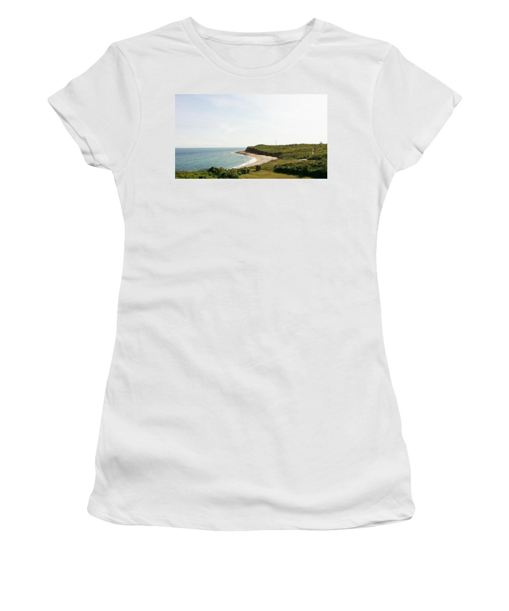 Montauk Women's T-Shirt featuring the photograph The End Of Long Island South 1 by Rob Hans
