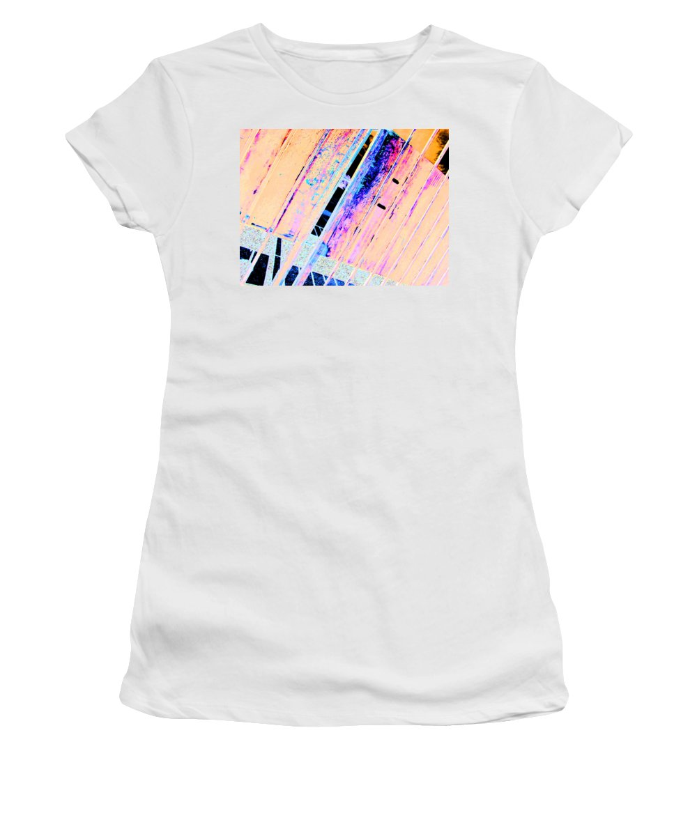 Abstract Women's T-Shirt (Athletic Fit) featuring the digital art The Gate by Lenore Senior