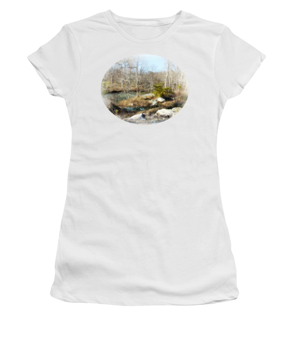The Good Old Way Women's T-Shirt featuring the photograph The Good Old Way by Anita Faye
