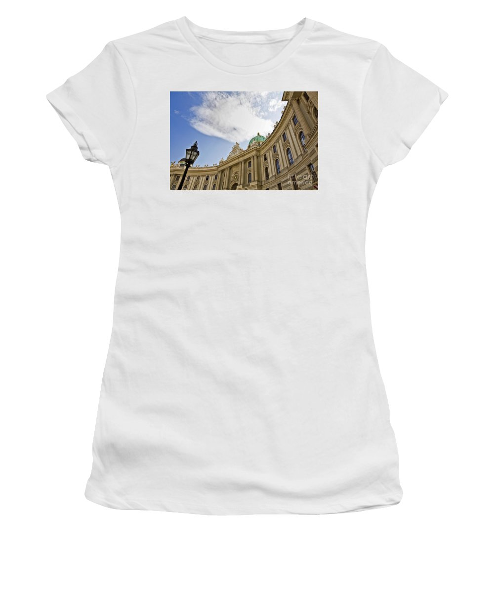 Hofberg Women's T-Shirt (Athletic Fit) featuring the photograph The Hofberg In Vienna by Madeline Ellis