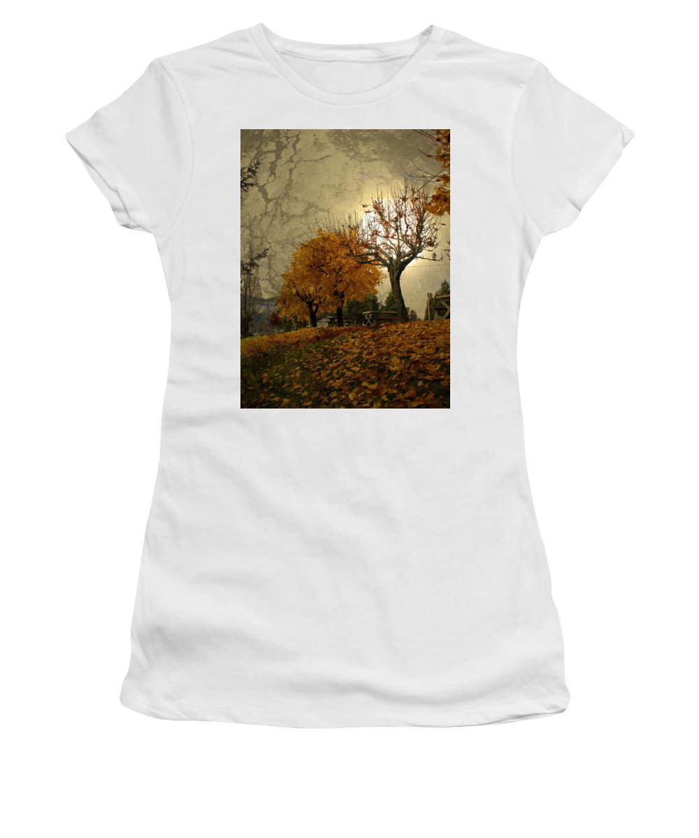 Autumn Women's T-Shirt (Athletic Fit) featuring the photograph The Holder Of Light by Tara Turner