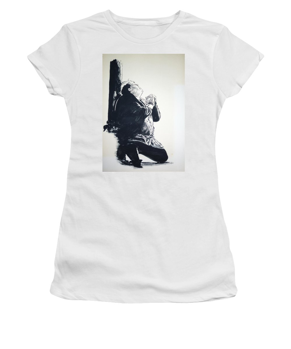 Hunchback Women's T-Shirt (Athletic Fit) featuring the painting The Hunchback Of Notre Dame by Bryan Bustard