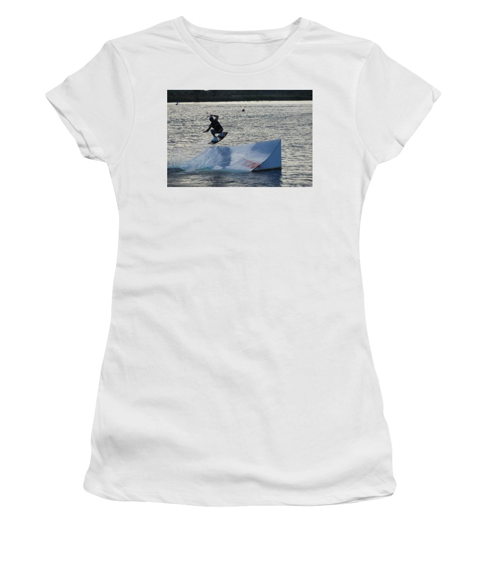 Waves Women's T-Shirt (Athletic Fit) featuring the photograph The Jumper by Rob Hans