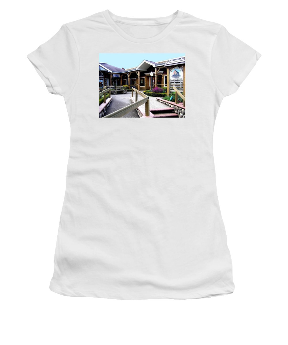 The Landing Women's T-Shirt featuring the photograph The Landing by Will Borden