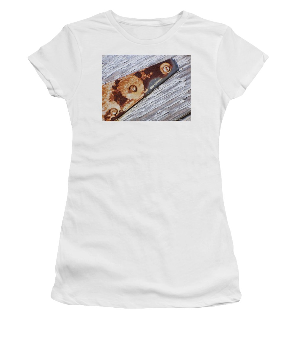 Latch Women's T-Shirt (Athletic Fit) featuring the photograph The Latch by Betty Northcutt