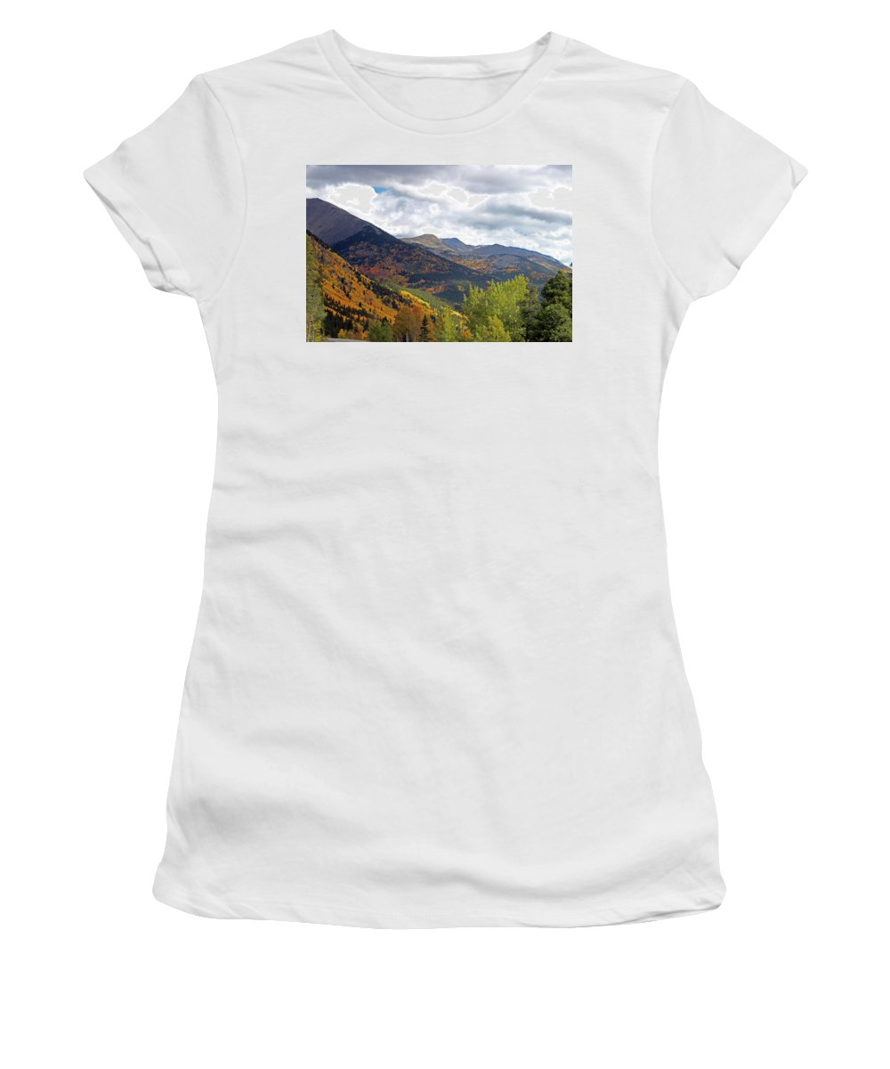Fall Women's T-Shirt (Athletic Fit) featuring the photograph The Love Of Nature by Samantha Burrow
