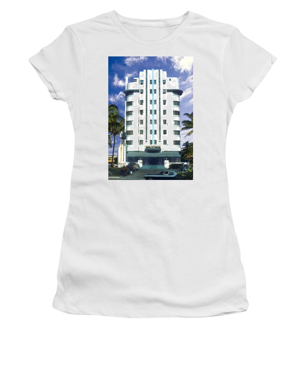 Miami Women's T-Shirt (Athletic Fit) featuring the photograph The New Yorker by Steve Karol