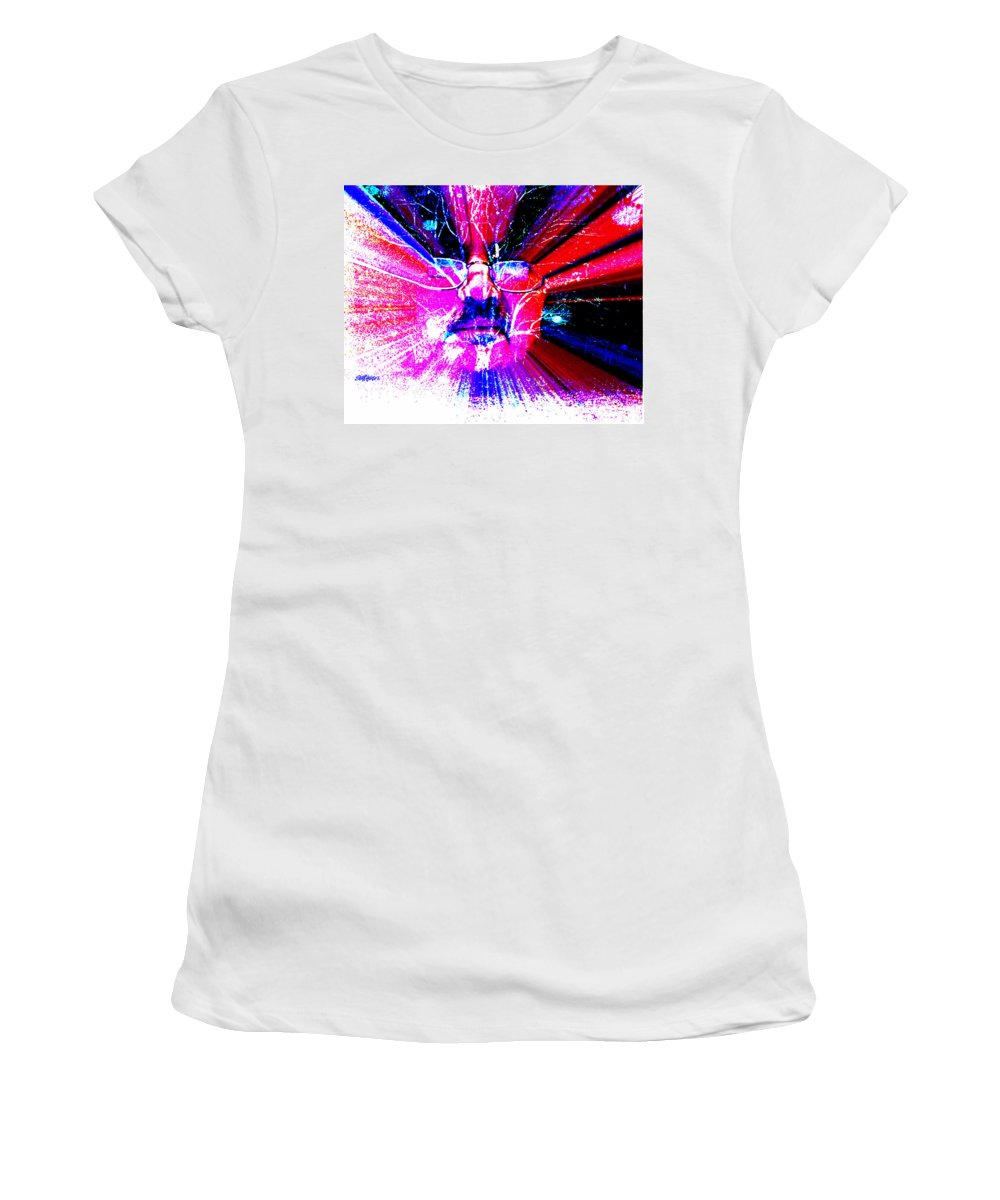 The Old Gardener Women's T-Shirt (Athletic Fit) featuring the digital art The Old Gardener by Seth Weaver