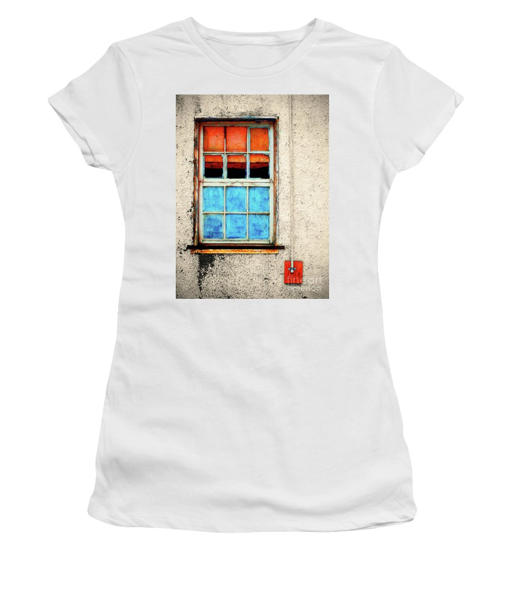 Window Women's T-Shirt (Athletic Fit) featuring the photograph The Old Window by Tara Turner