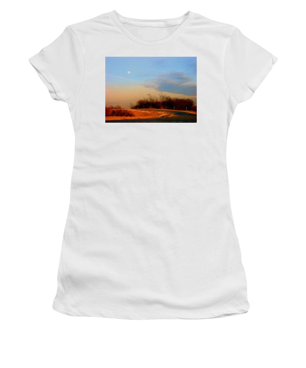 Landscape Women's T-Shirt (Athletic Fit) featuring the photograph The On Ramp by Steve Karol