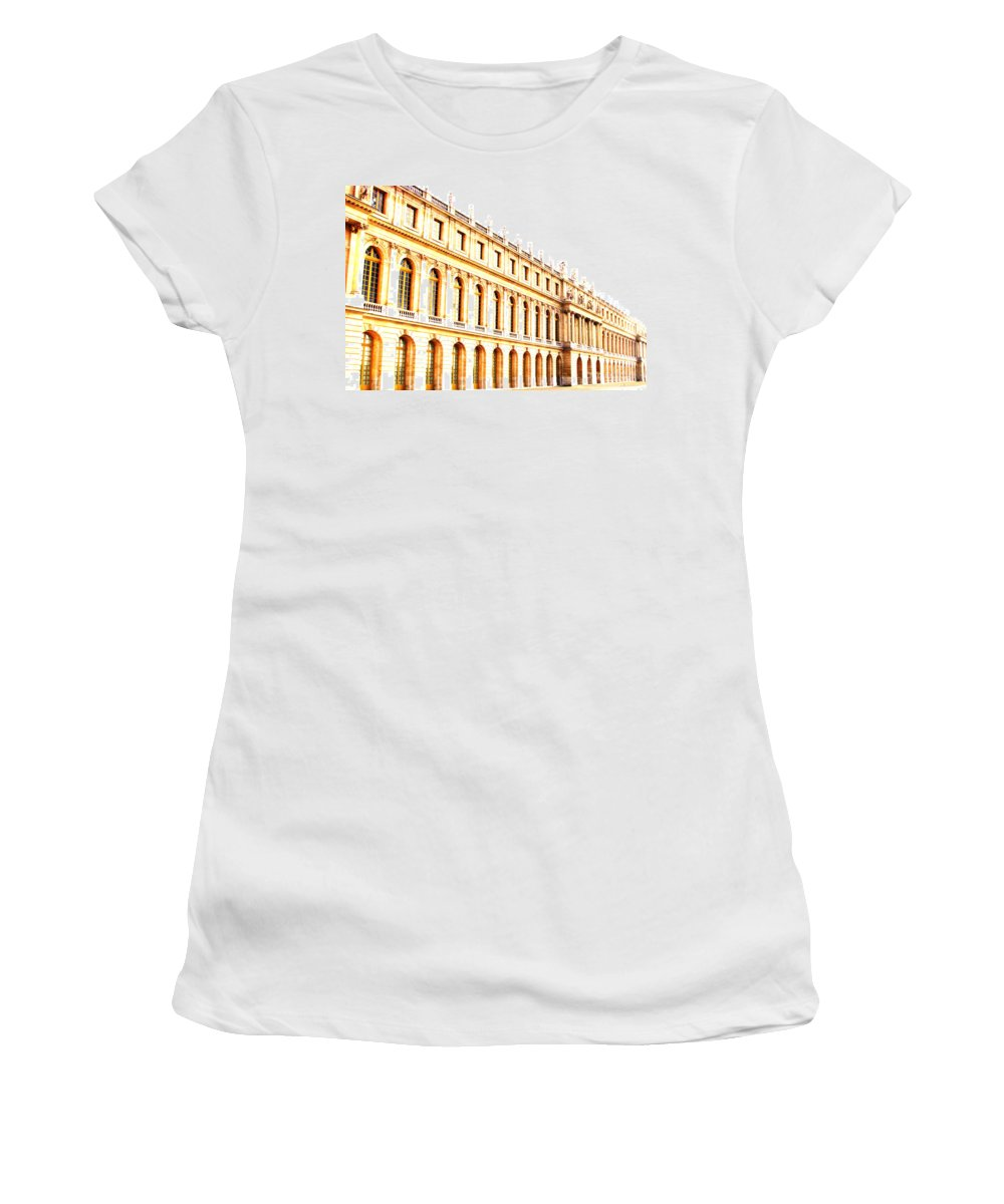 Versailles Women's T-Shirt (Athletic Fit) featuring the photograph The Palace by Amanda Barcon