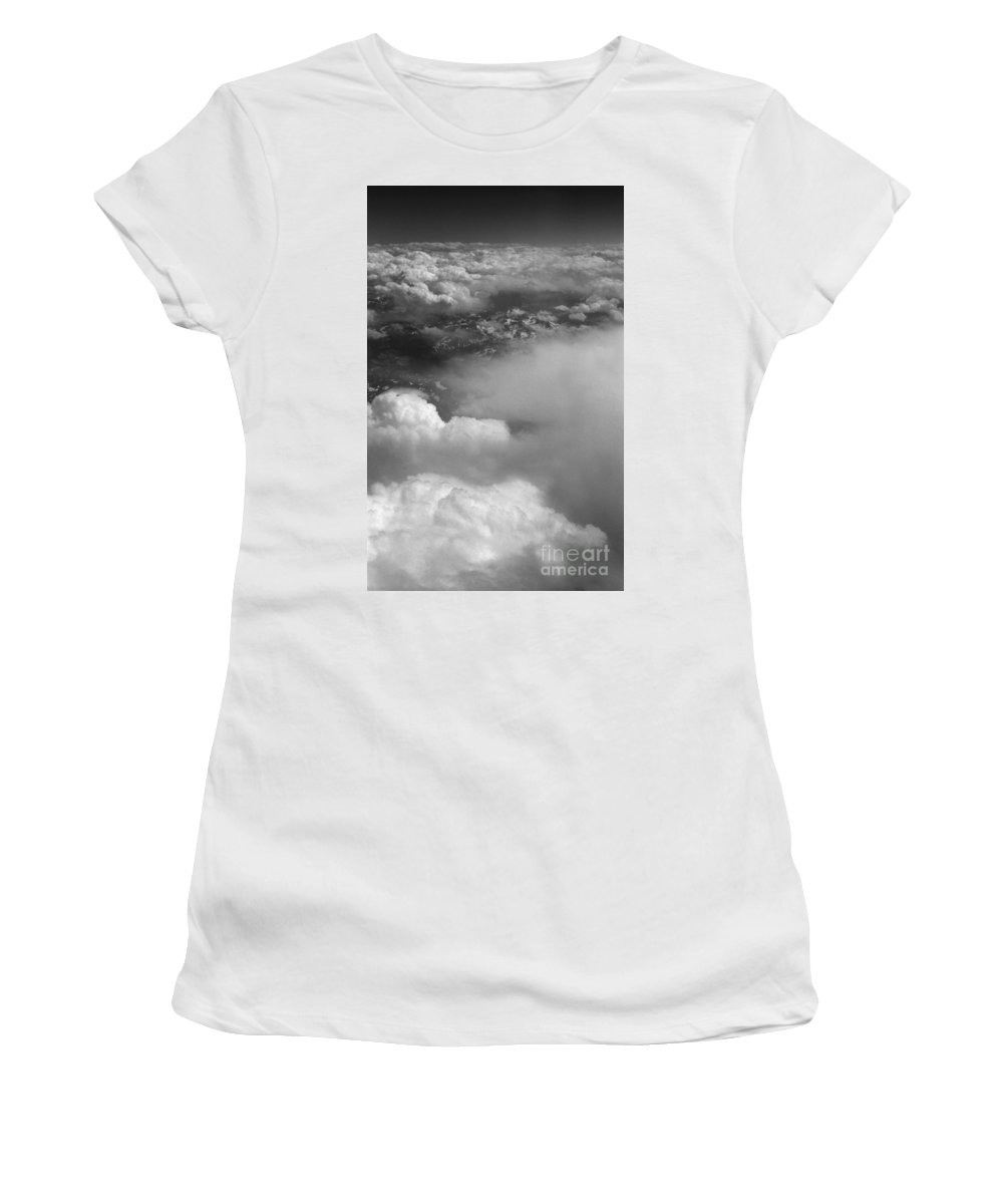 Aerial Photography Women's T-Shirt (Athletic Fit) featuring the photograph The Rockies by Richard Rizzo