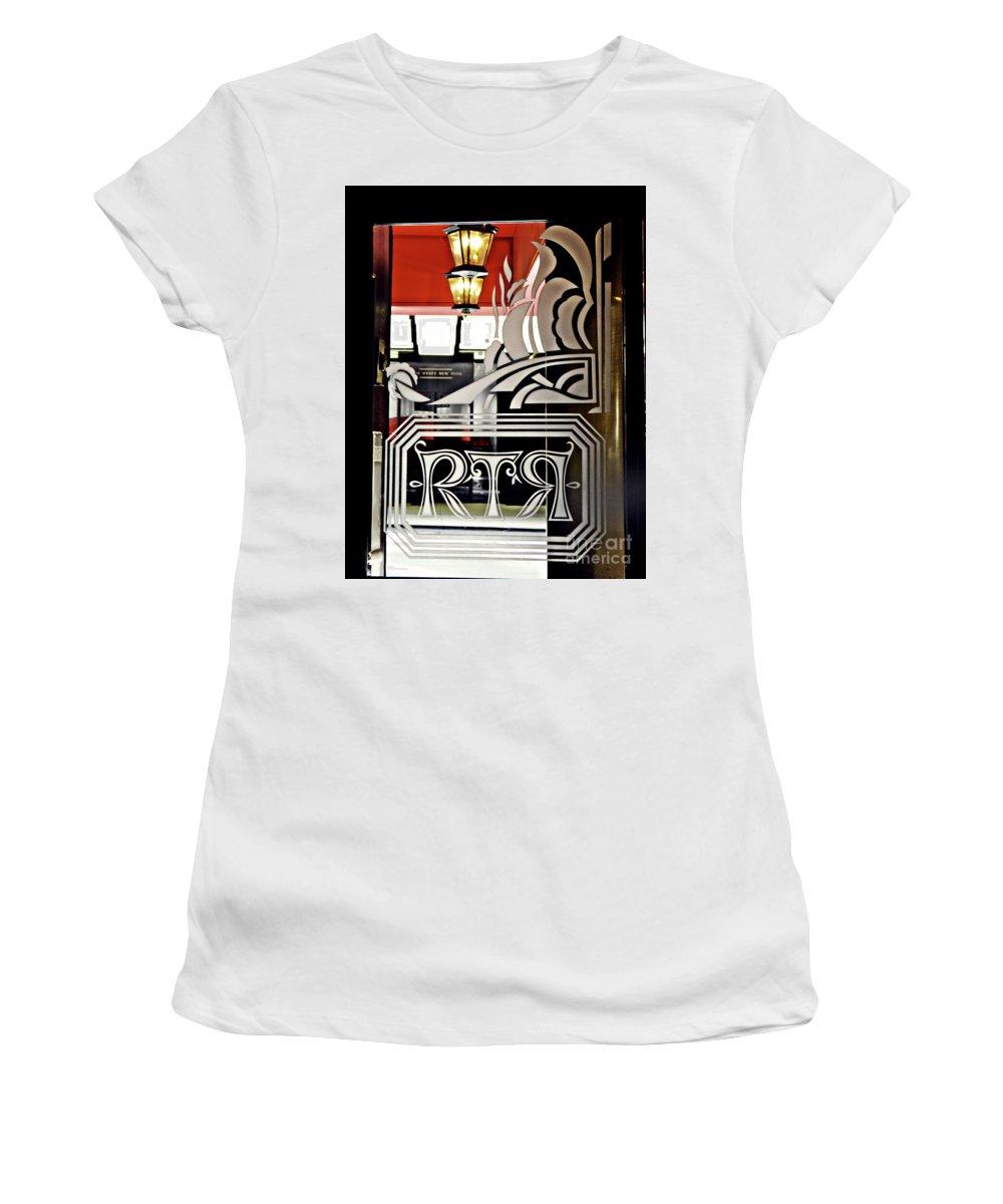Door Women's T-Shirt (Athletic Fit) featuring the photograph The Russian Tea Room Door by Sarah Loft