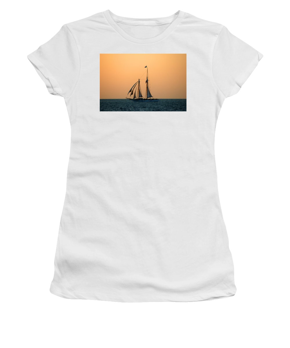 Boat Women's T-Shirt (Athletic Fit) featuring the photograph The Schooner America by Susanne Van Hulst