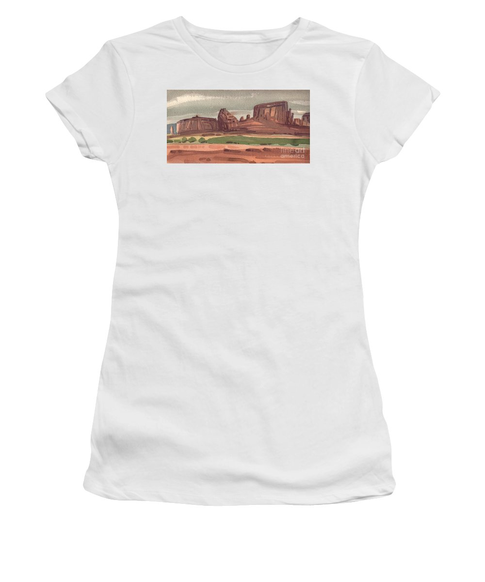 Sentinel Women's T-Shirt (Athletic Fit) featuring the painting The Sentinel by Donald Maier