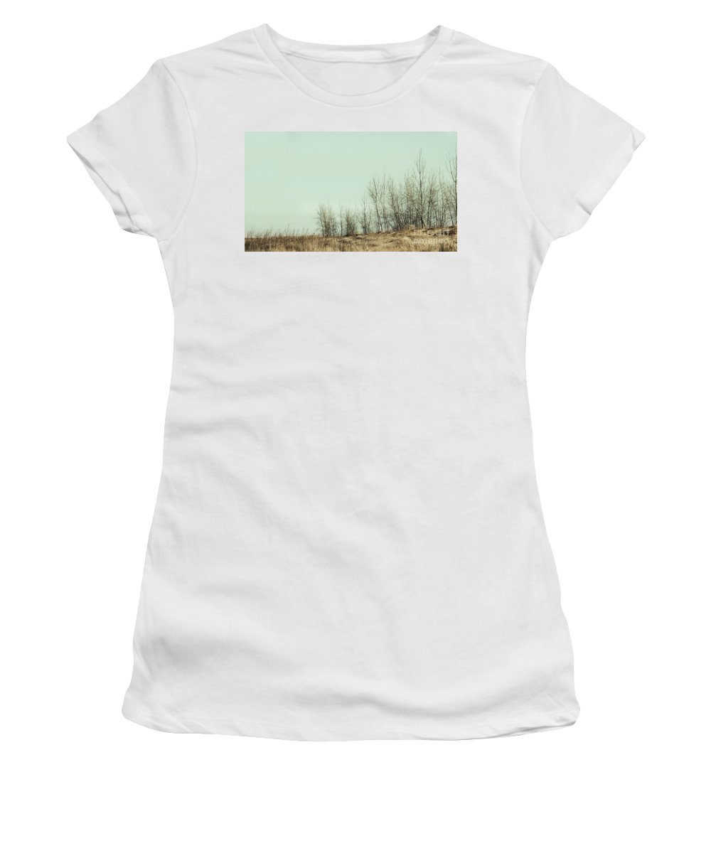 Trees Women's T-Shirt (Athletic Fit) featuring the photograph The Things We Should Have Done To End Up Somewhere Else by Dana DiPasquale