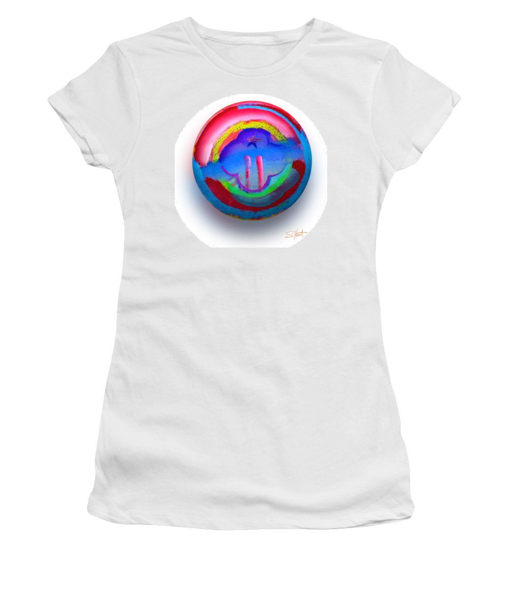 9/11 Women's T-Shirt (Athletic Fit) featuring the painting The Two Towers by Charles Stuart