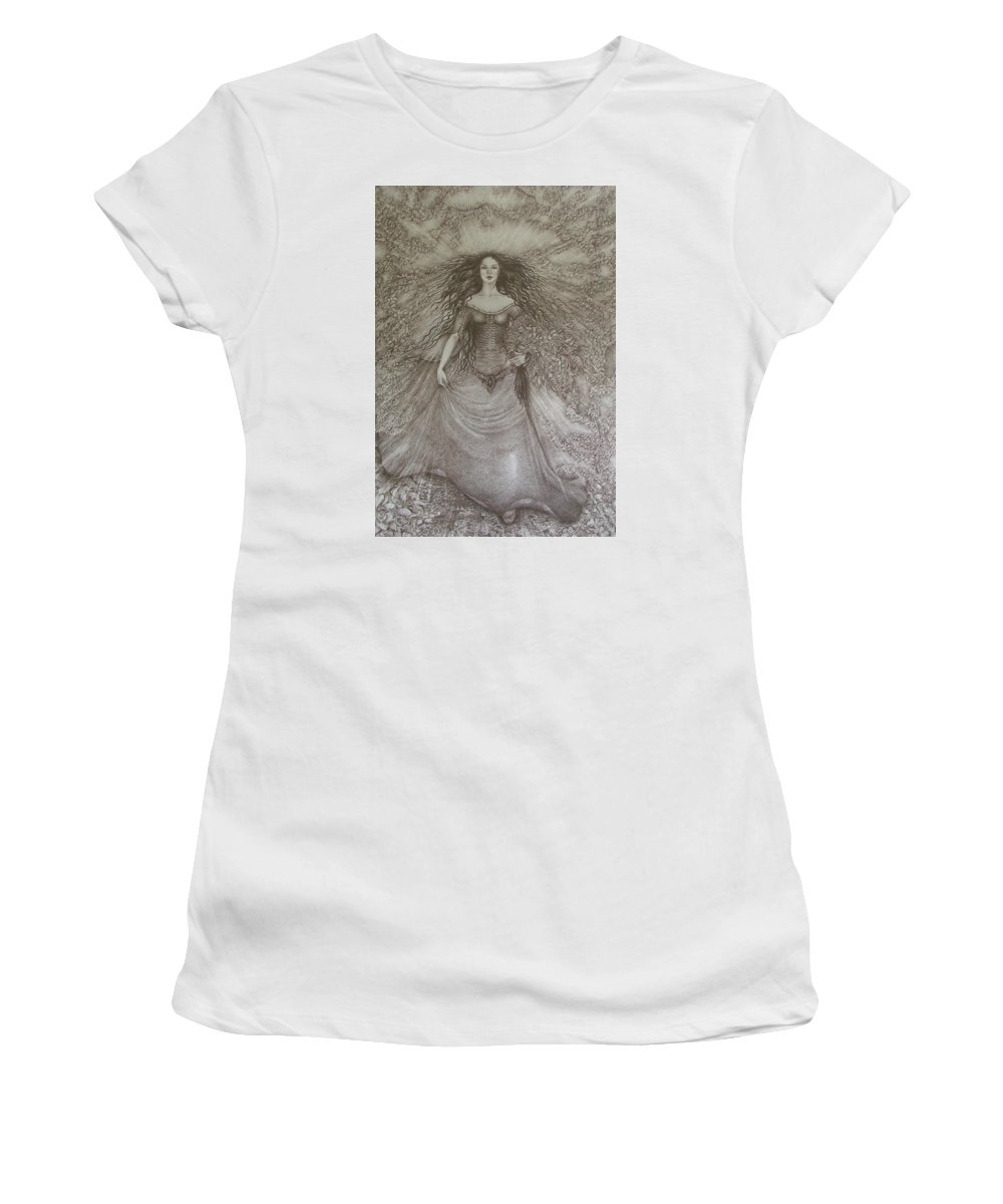 Spring Women's T-Shirt (Athletic Fit) featuring the drawing Victory Of Spring by Rita Fetisov