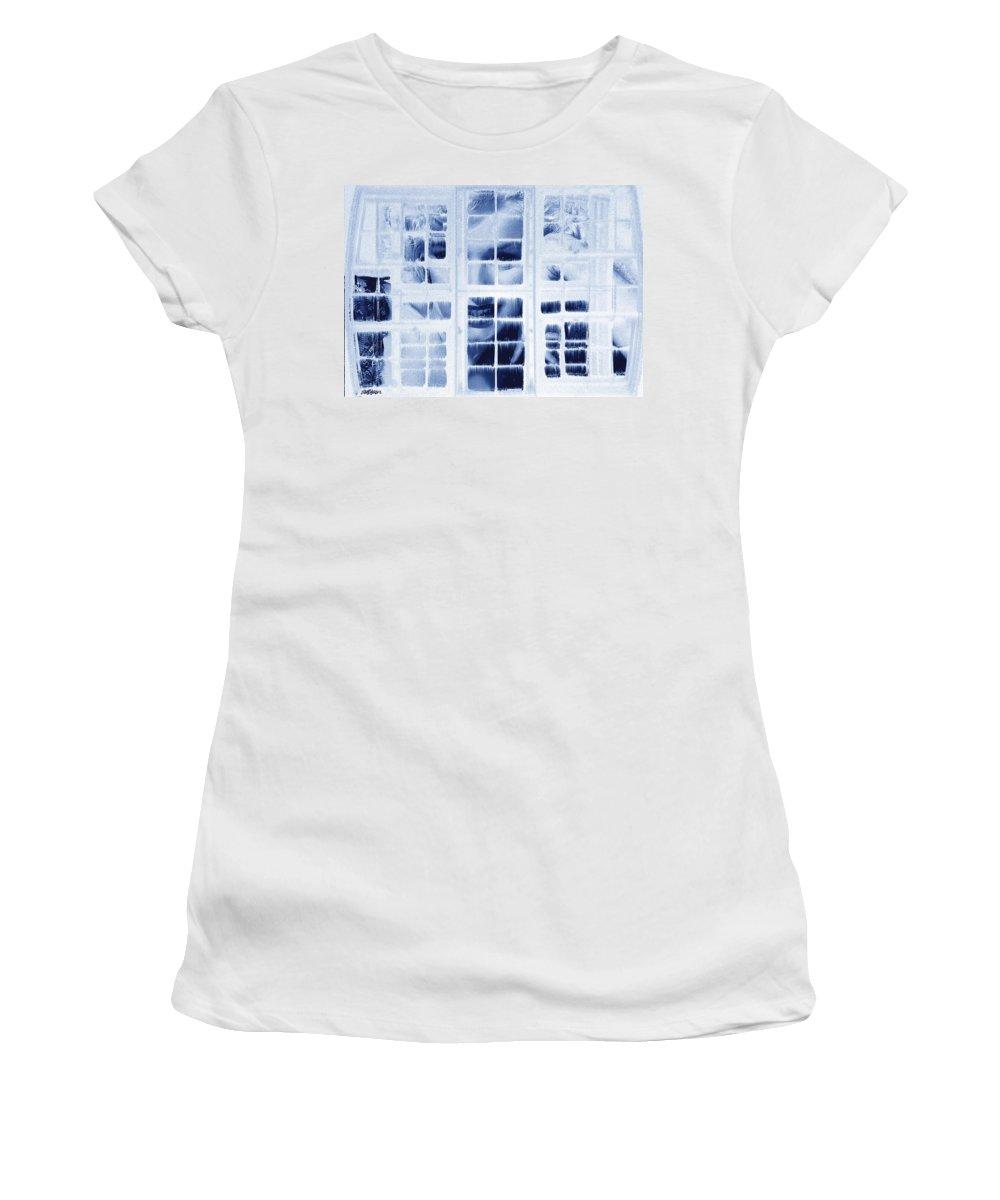 Marilyn Monroe Women's T-Shirt (Athletic Fit) featuring the digital art The Voyeur by Seth Weaver