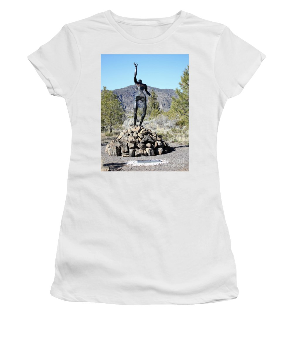 War Memorial Women's T-Shirt (Athletic Fit) featuring the photograph The Wounded Warrior by Carol Groenen