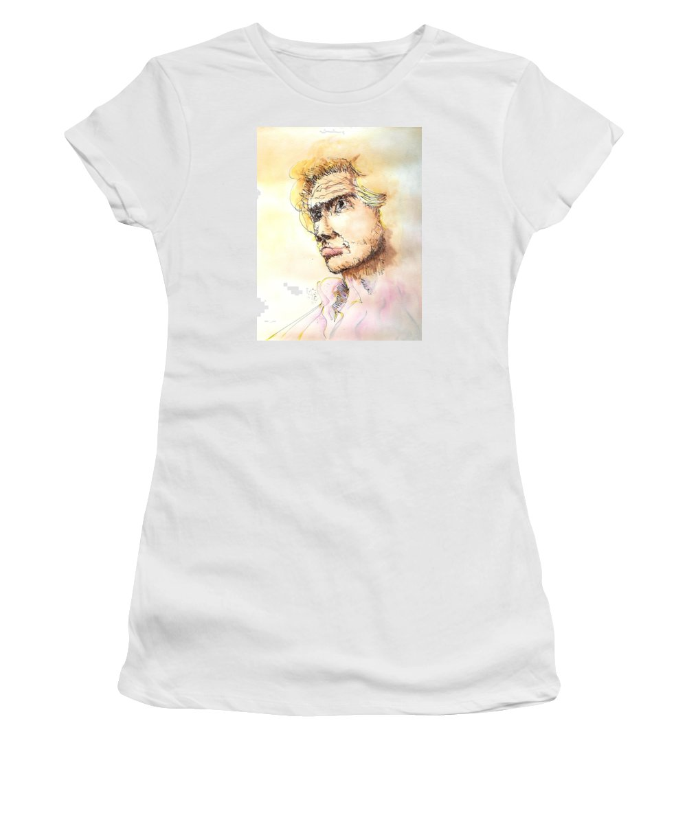 Man Women's T-Shirt (Athletic Fit) featuring the painting The Young Prince by Dave Martsolf