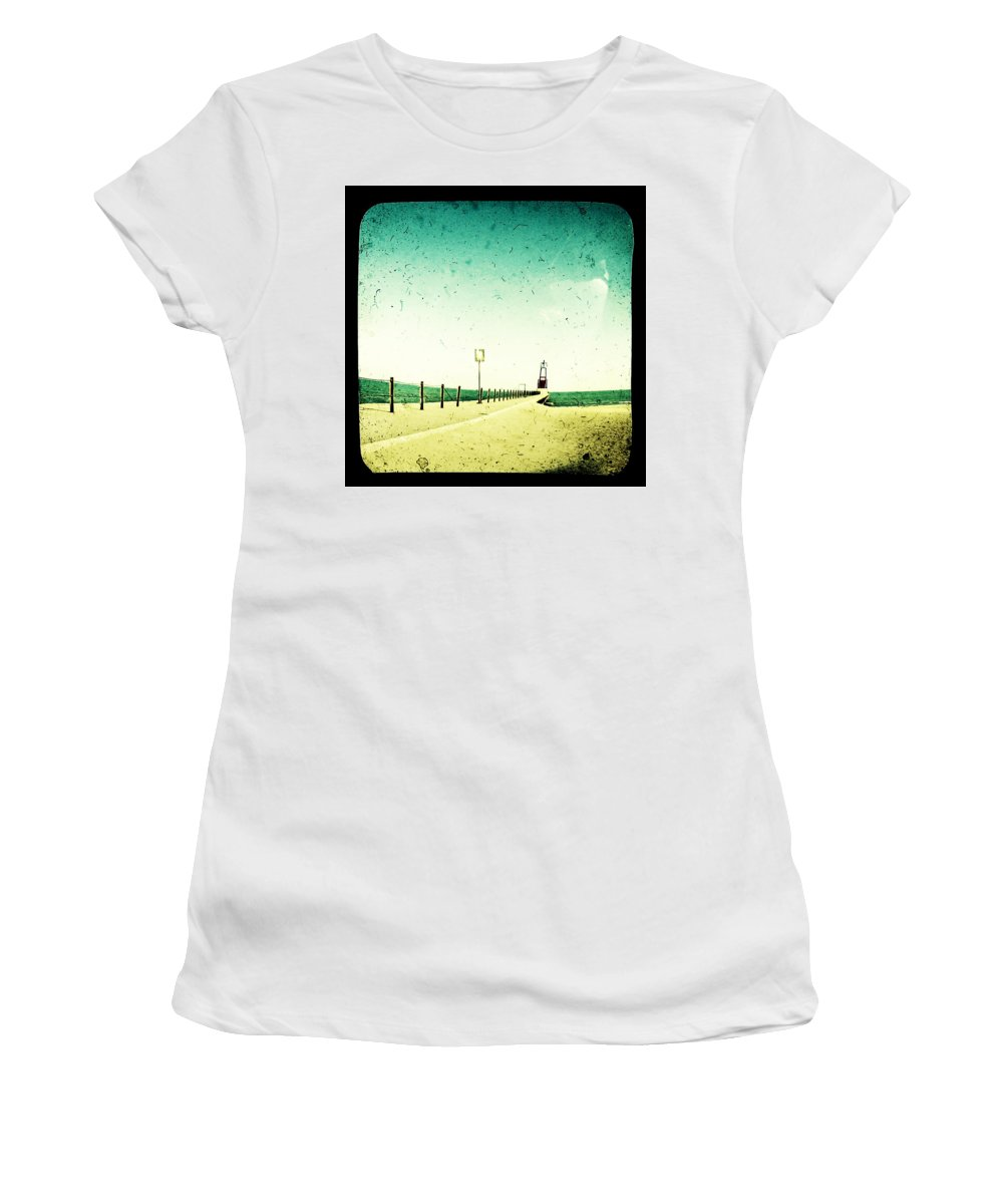 Beach Women's T-Shirt (Athletic Fit) featuring the photograph These Days Are Gone by Dana DiPasquale