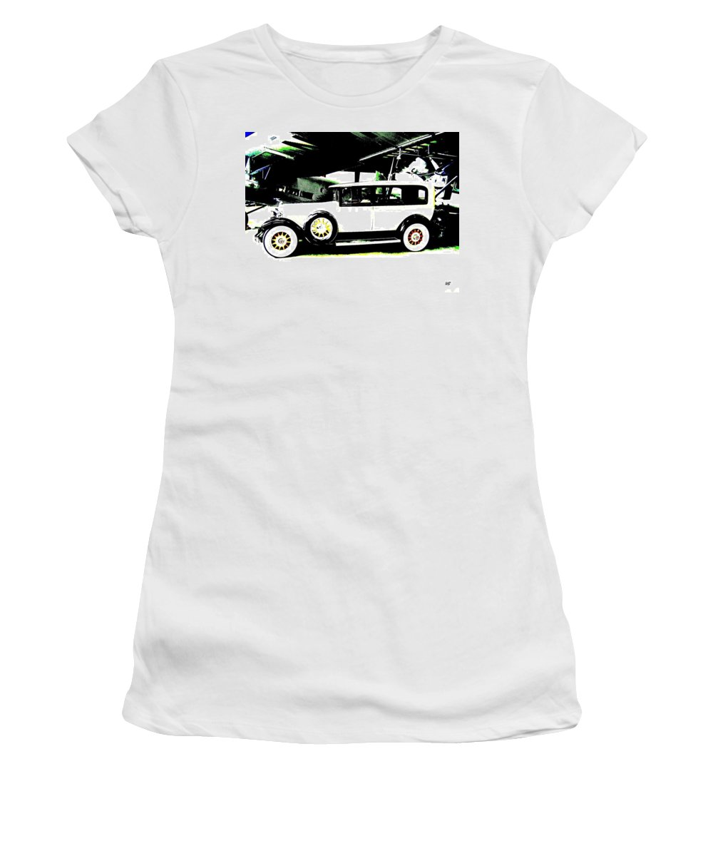 Packard Women's T-Shirt (Athletic Fit) featuring the digital art Thirties Packard Limo by Will Borden