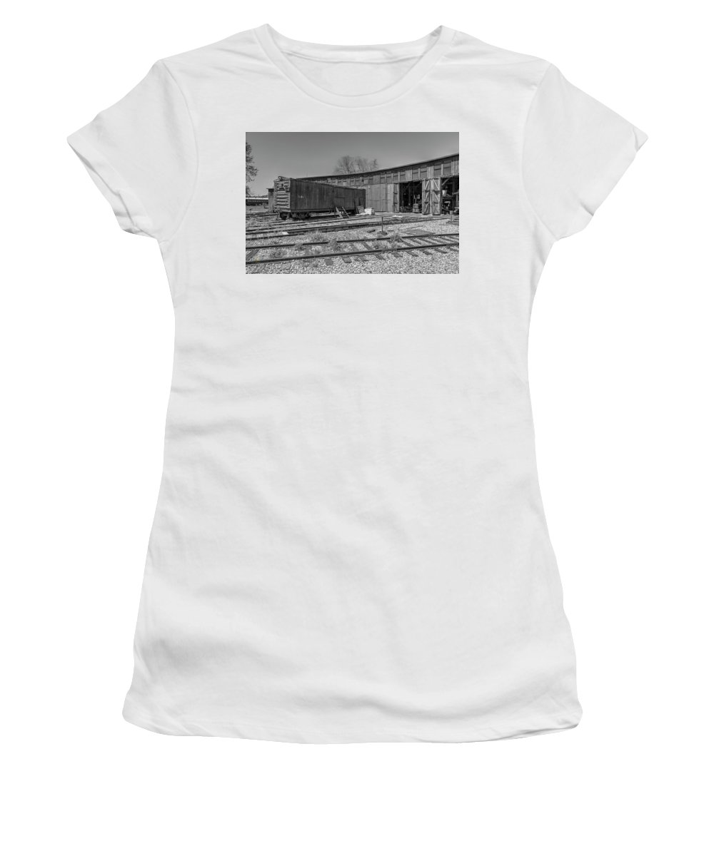 California Women's T-Shirt featuring the photograph Thr Roundhouse by Jim Thompson