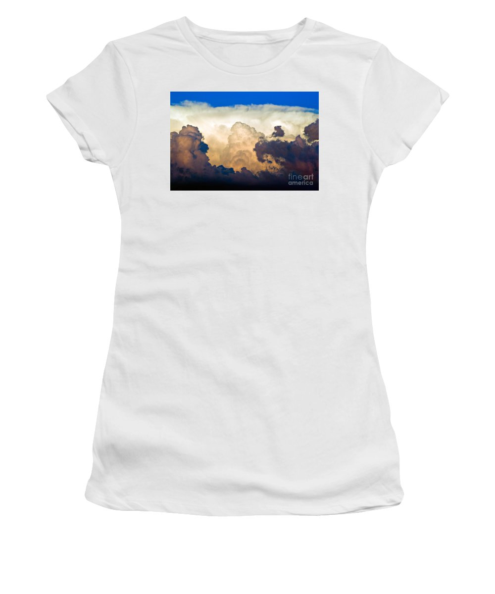 Thunderhead Women's T-Shirt (Athletic Fit) featuring the photograph Thunderhead Cloud by James BO Insogna