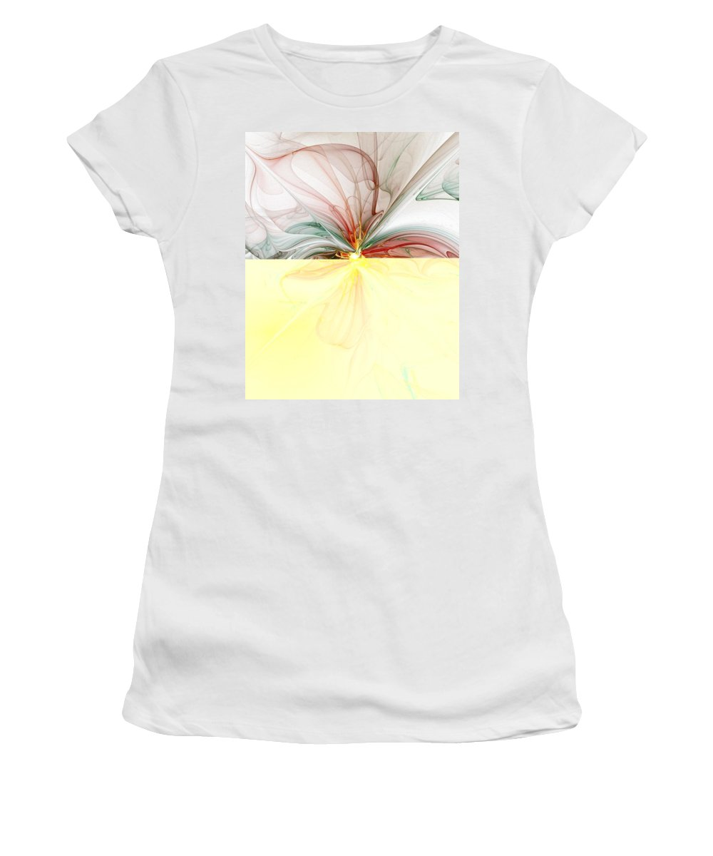Digital Art Women's T-Shirt (Athletic Fit) featuring the digital art Tiger Lily by Amanda Moore
