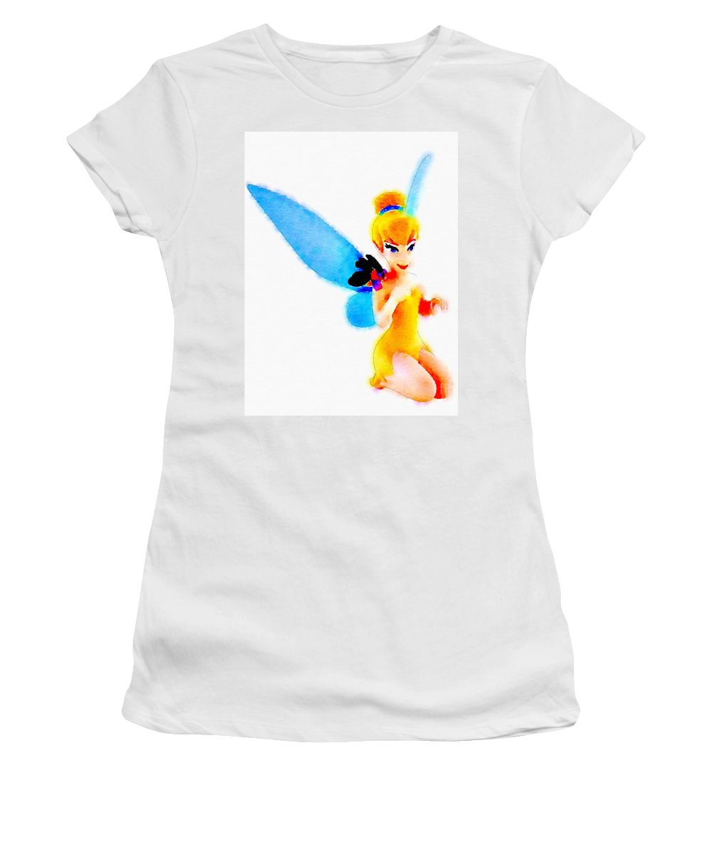 Tinker Bell Women's T-Shirt featuring the painting Tinker Bell by Helge
