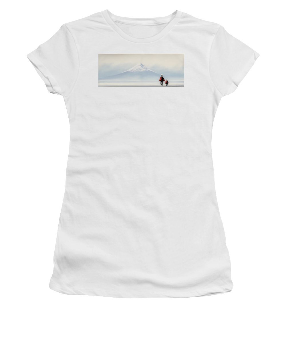 Painting Women's T-Shirt featuring the photograph Cotopaxi Trek by Maria Coulson